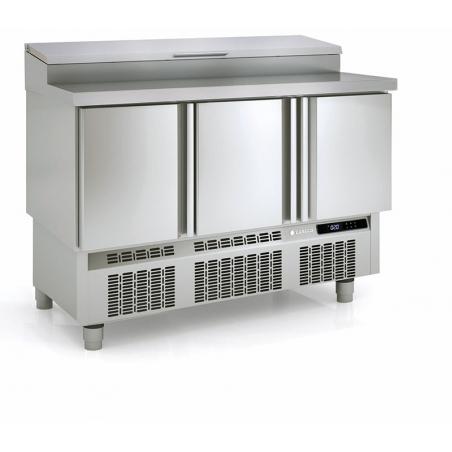 Saladette Réfrigérée Positive - 3 Portes - 264 L - 8 Bacs GN 1/4 CORECO - 1