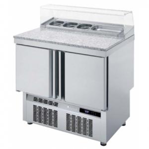 Saladette Réfrigérée Positive - 2 Portes - 169 L - 5 Bacs GN 1/6 CORECO - 1