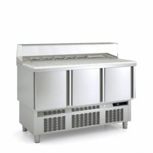 Saladette Réfrigérée Positive - 3 Portes - 264 L - 7 Bacs GN 1/6 CORECO - 1