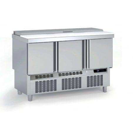 Saladette Réfrigérée Positive - 3 Portes - 264 L - 18 Bacs GN 1/6 et 6 Bacs GN 1/9 CORECO - 1