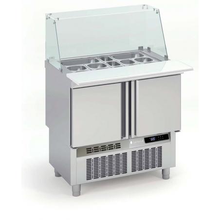 Saladette Réfrigérée Positive pour Fast-Food - 2 Portes - 169 L - 15 Bacs GN 1/6 CORECO - 1