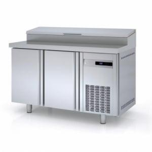 Meuble de Préparation Réfrigéré Positif - 2 portes - 255 L - 8 Bacs GN 1/4 CORECO - 1