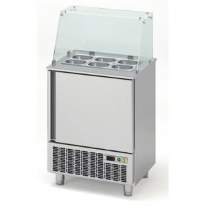 Saladette Réfrigérée Positive pour Fast-Food - 1 Porte - 117 L - 6 Bacs GN 1/6 CORECO - 1