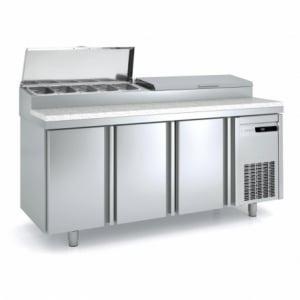 Meuble de Préparation à Pizza - 3 portes - 562 L - 10 Bacs GN 1/3 CORECO - 1