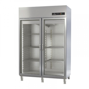 Armoire Réfrigérée Positive - 1404 L - 2 Portes Vitrées - GN 2/1 CORECO - 1