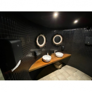 Distributeur de Savon Mural Noir Cleanline - 700ml JVD - 4