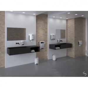Distributeur de Savon Mural Blanc Cleanline - 700ml JVD - 4