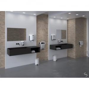 Distributeur de Savon Palette Blanc Cleanline - 700ml JVD - 4