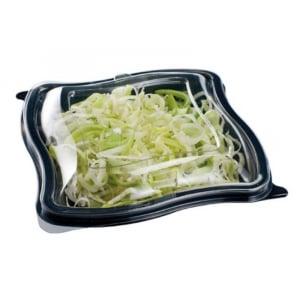Boîte à Salade Noire en PET - 750 ml - 196 x 196 - Lot de 100 FourniResto - 1