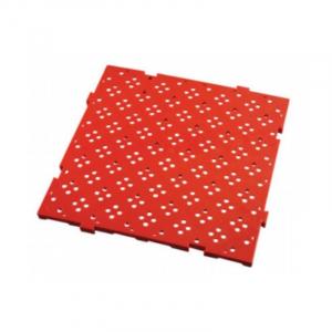 Caillebotis 50 x 50 cm - Clipsable - Rouge FourniResto - 1