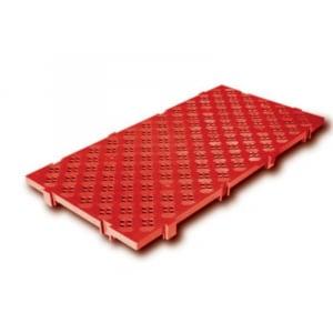 Caillebotis 100 x 50 cm - Clipsable - Rouge FourniResto - 1