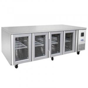 Table Réfrigérée Positive Vitrée en Acier - GN 1/1 - 560 L FourniResto - 1