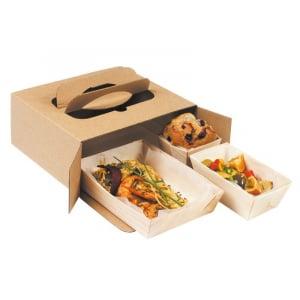 Boîte Repas en Carton - 220 x 200 mm - Lot de 100 FourniResto - 1