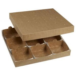Boîte Repas Modulo 360 pour Barquette en Carton - 360 x 360 mm - Lot de 35 FourniResto - 1