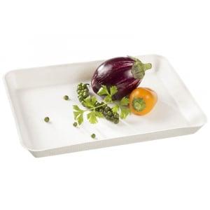 Assiette Kanopée Blanche - 200 x 150 mm - Lot de 50 FourniResto - 1