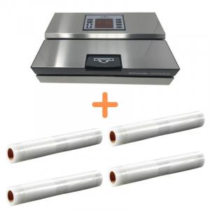 Pack Machine Sous Vide Professionnelle avec Rouleaux de Film Plastique Alpinox - 1