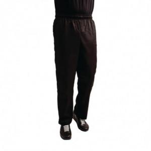 Pantalon De Cuisine Mixte Easyfit Noir Traité Teflon - Taille M Whites Chefs Clothing - 1