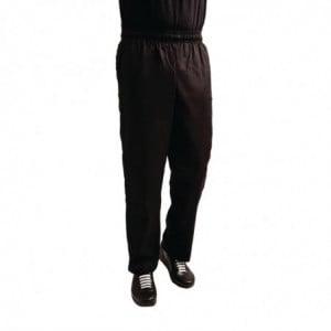 Pantalon de Cuisine Mixte Easyfit Noir Traité au Teflon - Taille XL Whites Chefs Clothing - 1