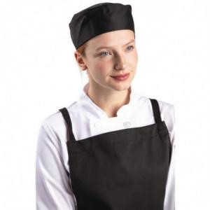 Calot De Cuisine Noir En Polycoton - Taille M 58,4 Cm Whites Chefs Clothing - 1