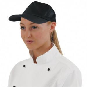 Casquette Baseball Noire Avec Sangle Réglable - Taille Unique Whites Chefs Clothing - 1