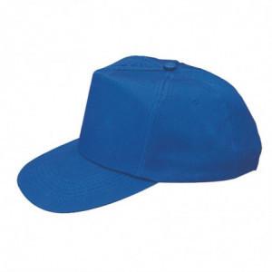Casquette Baseball Bleue Avec Sangle Réglable - Taille Unique Whites Chefs Clothing - 1