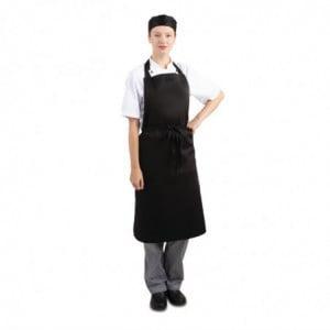 Tablier Bavette Noir 965 X 711 Mm Whites Chefs Clothing - 1