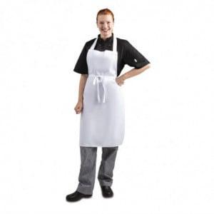 Tablier Bavette Blanc 711 X 656 Mm Whites Chefs Clothing - 1