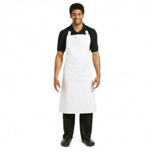 Tablier Bavette Blanc - Taille Xl 915 X 1066 Mm Whites Chefs Clothing - 1