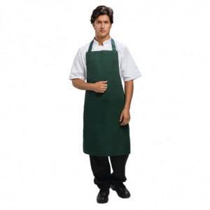 Tabier Bavette Vert Bouteille 710 X 970 Mm Whites Chefs Clothing - 1
