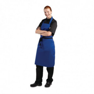 Tabier Bavette Bleu Roi 710 X 970 Mm Whites Chefs Clothing - 1