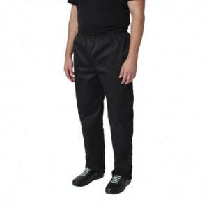 Pantalon de Cuisine Mixte Noir Vegas - Taille XXL Whites Chefs Clothing - 1