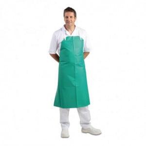 Tabier Bavette Déperlant Très Résistant Vert 1070 X 910 Mm Whites Chefs Clothing - 1