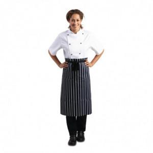 Tablier De Cuisine Rayé Bleu Et Blanc 760 X 920 Mm Whites Chefs Clothing - 1