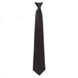 Cravate À Clip Noire En Polycoton FourniResto - 1