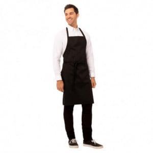 Tablier Bavette Noir à Poche et Tour de Cou Réglable Chef Works - 1