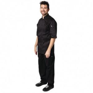 Veste de Cuisine Mixte Noire Montreal - Taille M Chef Works - 1