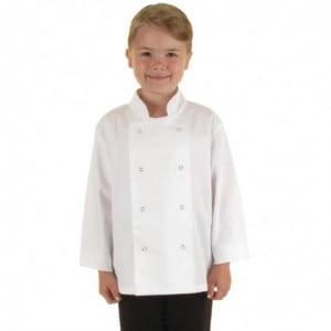 Veste de Cuisine Blanche pour Enfant - Taille S/M Whites Chefs Clothing - 1
