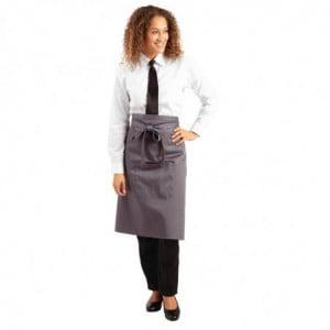 Tablier de Serveur Gris Anthracite en Polycoton - 1000 x 700 mm Whites Chefs Clothing - 1
