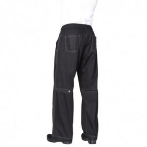 Pantalon De Cuisine Mixte Baggy Noir - Taille L Chef Works - 2