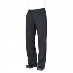 Pantalon de Cuisine Mixte Baggy Noir - Taille XL Chef Works - 1