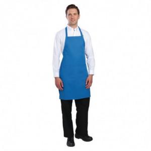 Tablier Bavette avec Tour de Cou Réglable et Double Poche Bleu - 610 x 860 mm Chef Works - 1