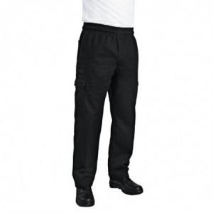 Pantalon de Cuisine Mixte Cargo Noir - Taille S Chef Works - 1
