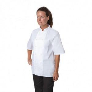 Veste de Cuisine Blanche à Manches Courtes Boston - Taille XS Whites Chefs Clothing - 1