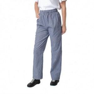Pantalon de Cuisine Mixte Vegas à Petits Carreaux Bleus et Blancs - Taille M Whites Chefs Clothing - 1