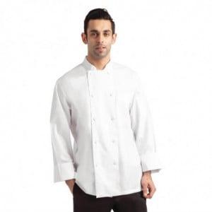 Veste de Cuisine Mixte Blanche à Manches Longues Calgary - Taille S Chef Works - 1