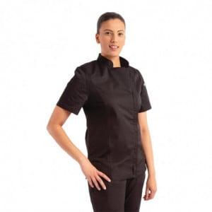 Veste de Cuisine Zippée Noire pour Femme Springfield - Taille S Chef Works - 1