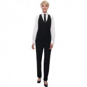 Pantalon de Service Noir Events pour Femme - Taille 48 FourniResto - 1