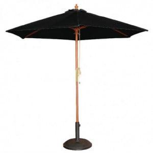 Parasol Noir Rond Ø 2,5 M Bolero - 1