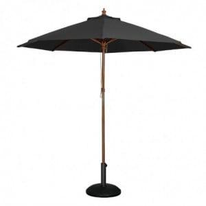 Parasol Noir Rond Ø 3 M Bolero - 1