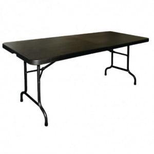 Table Pliable Noire - L 180 cm Bolero - 1